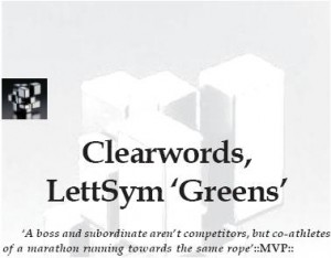 BIG BOSS - Chapter 2. Clearwords, Lettsym 'Greens'